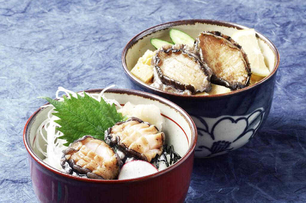 寿し処かきた エゾアワビ豪華2色丼